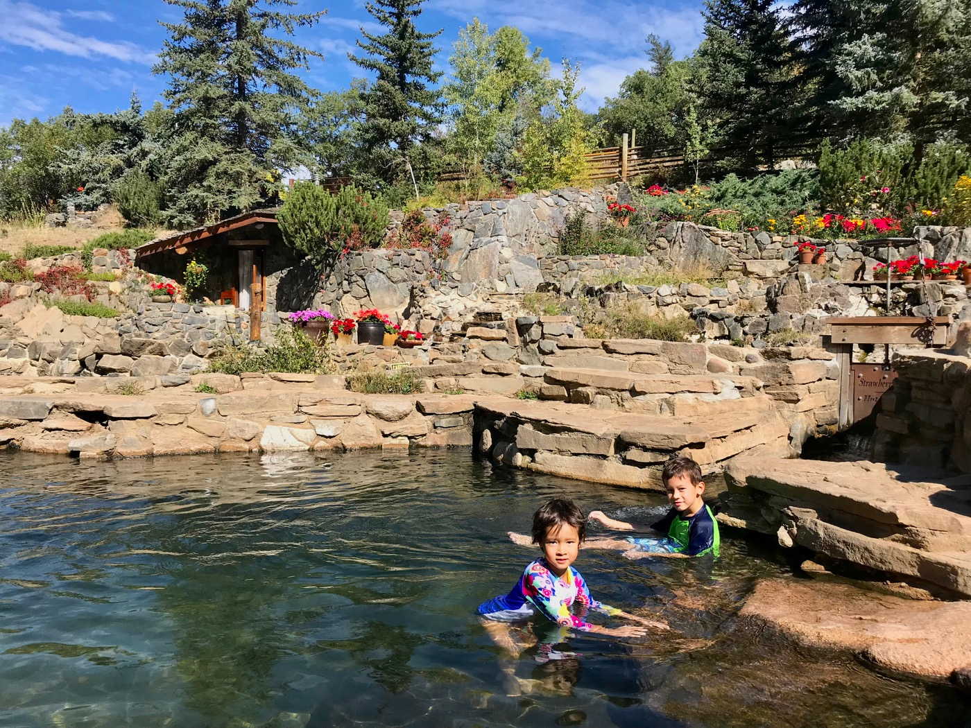 Soaking in Steamboat Springs