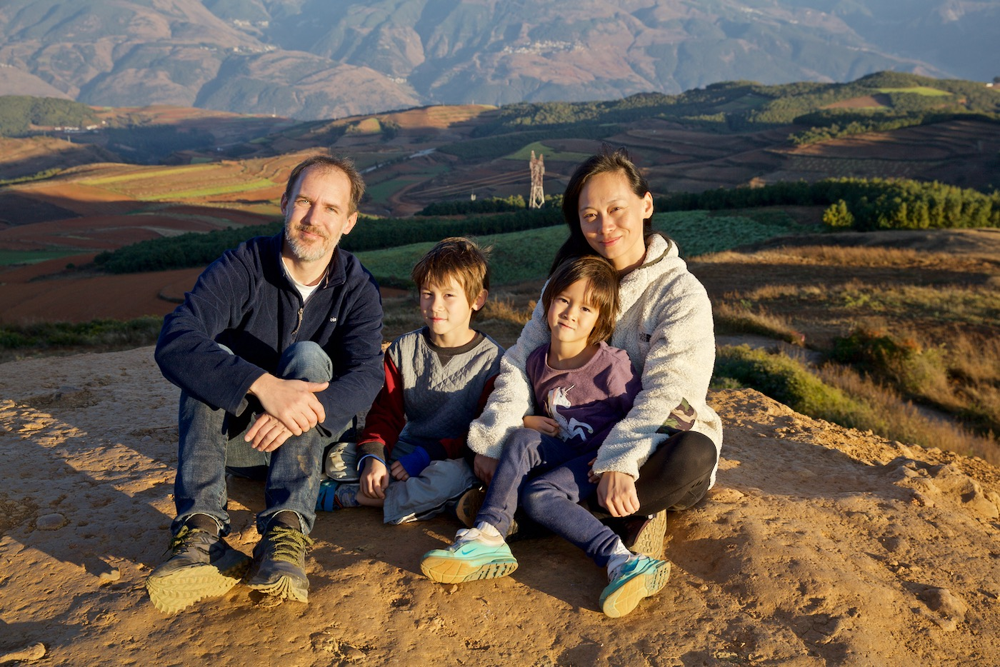 Benson family. Dongchuan, Yunnan, China