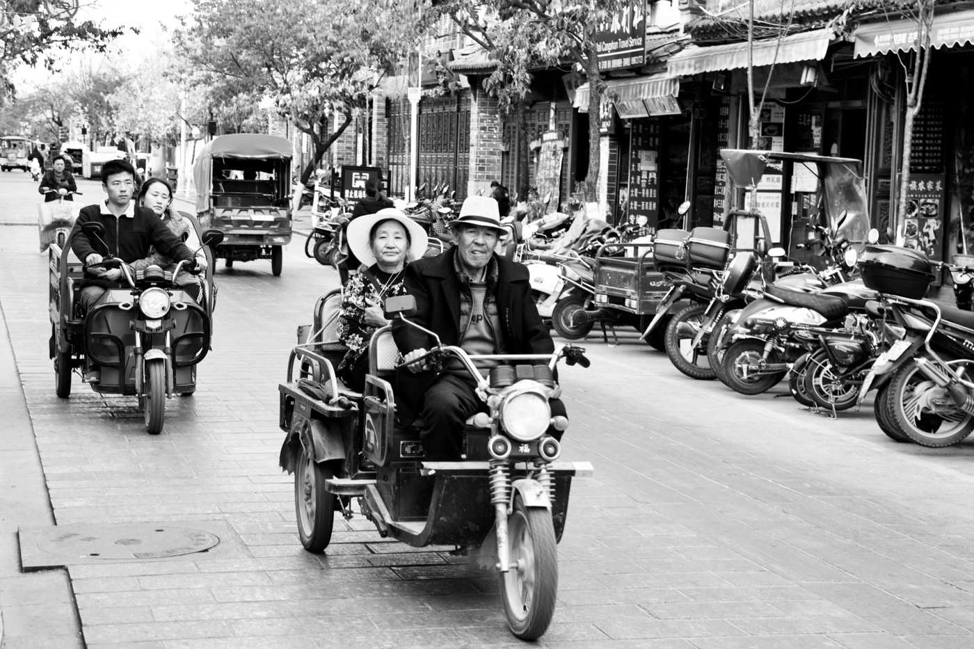 Joy riding.  Dali, China