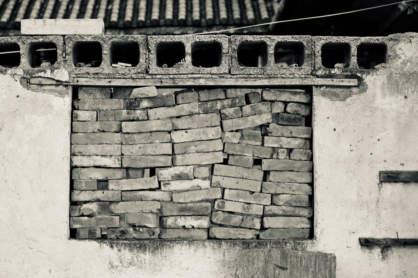Composite wall.  Dali, China