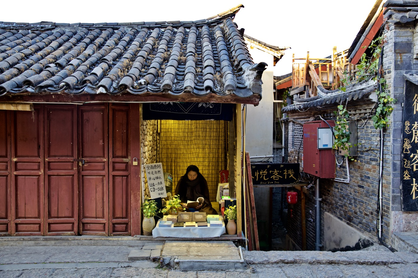 Selling inner peace.  Lijiang, China